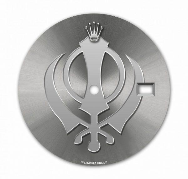 Khanda Grey DJ41 Dial with Silver Symbol