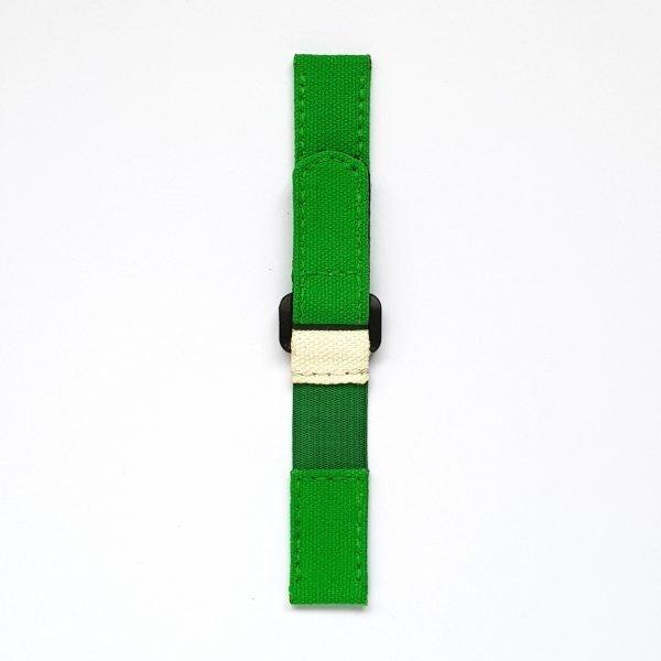 Green & White Canvas Strap