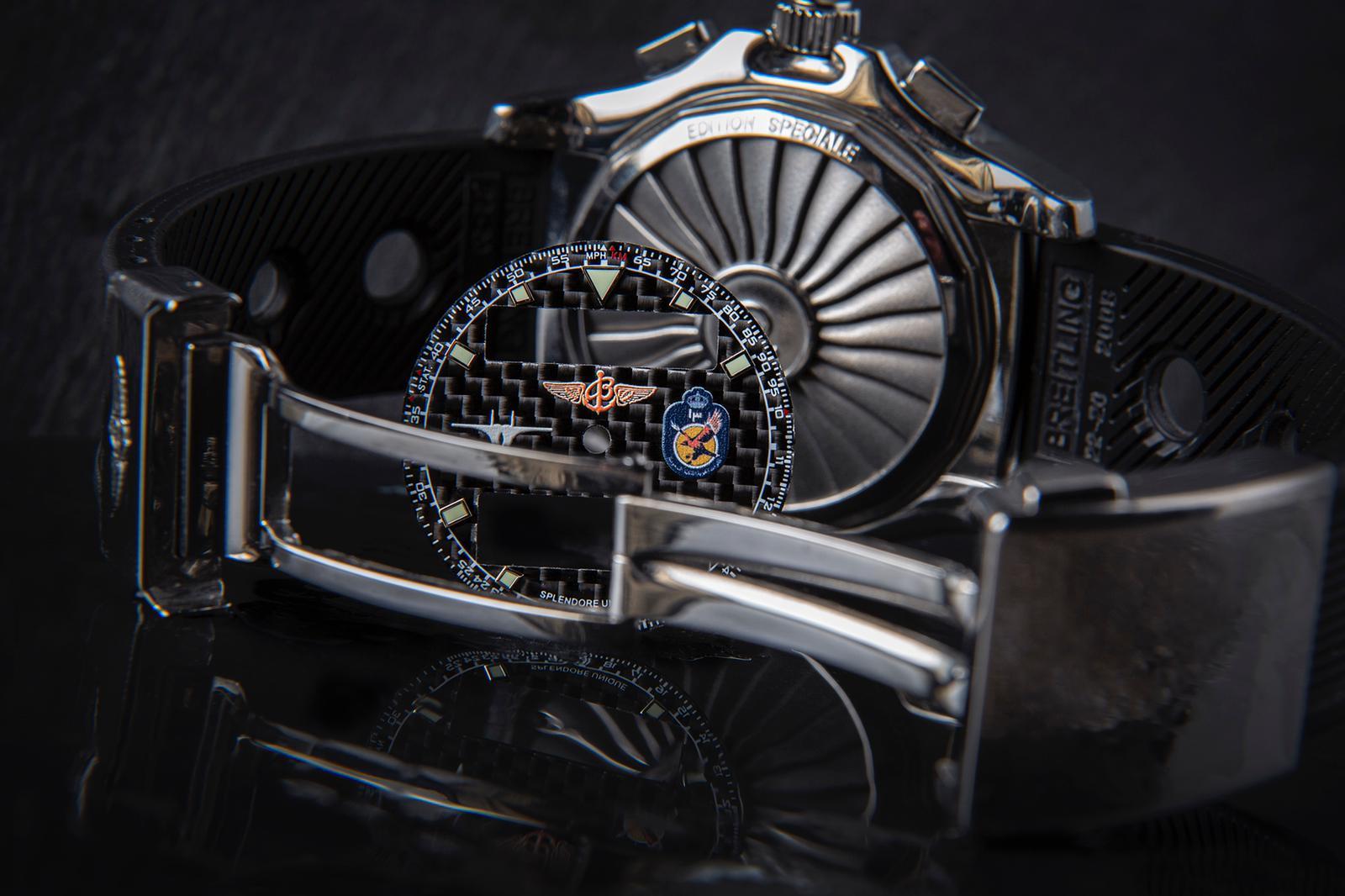 Bespoke Carbon Fibre Breitling Airwolf Raven