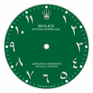 Green Arabic-Inspired OP41 Dial