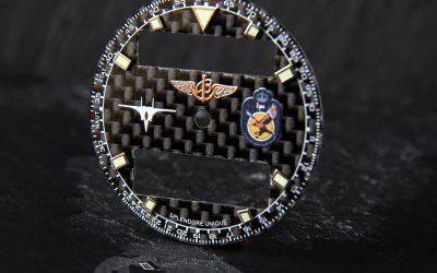 "Bespoke Carbon Fibre ""Pilot"" Breitling Airwolf Raven"