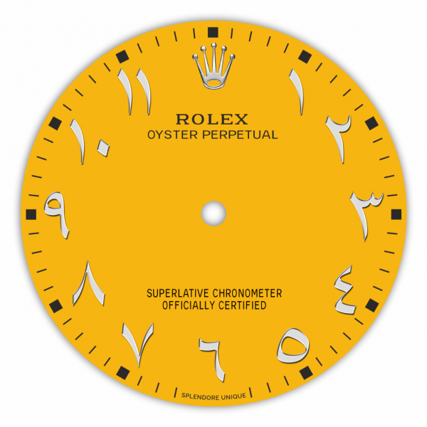 Yellow Arabic Inspired OP41 Dial